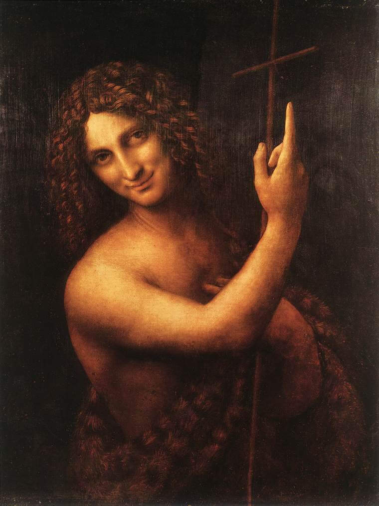 St. John the Baptist - by Leonardo Da Vinci