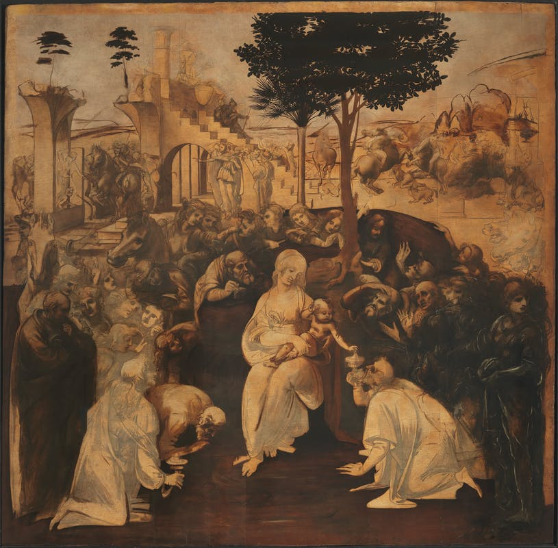 The Adoration of the Magi - by Leonardo Da Vinci