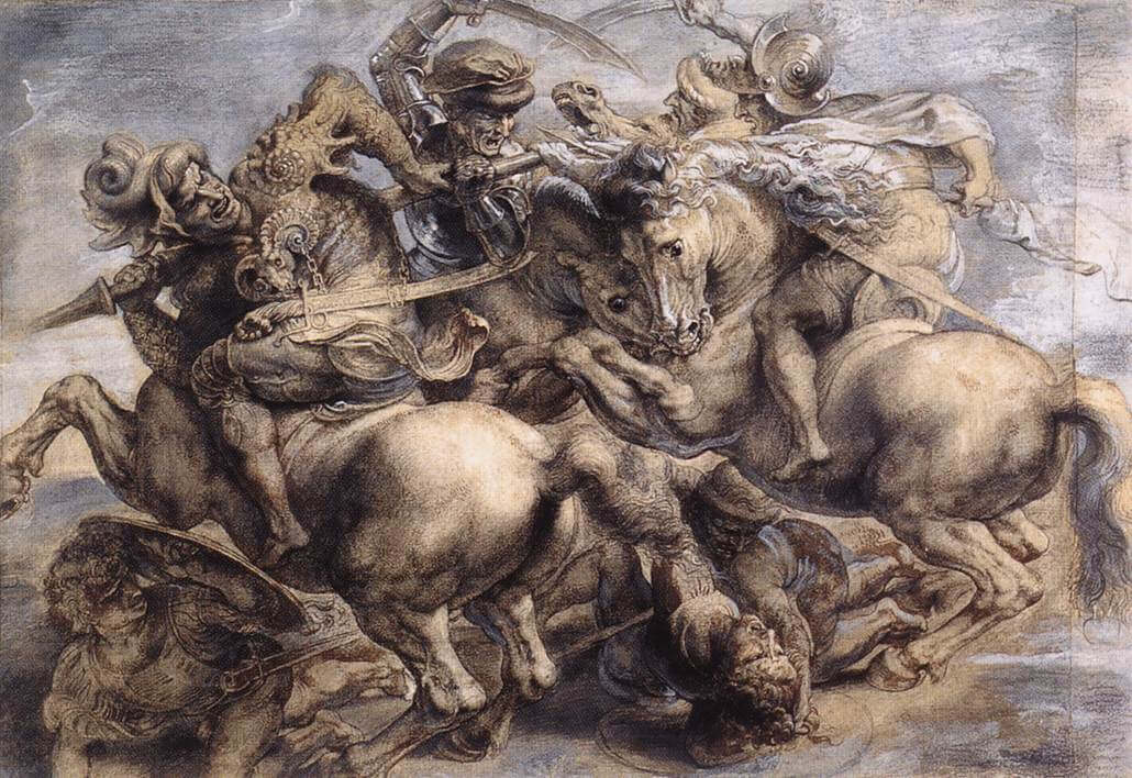 Peter Paul Rubens's copy of The Battle of Anghiari.
