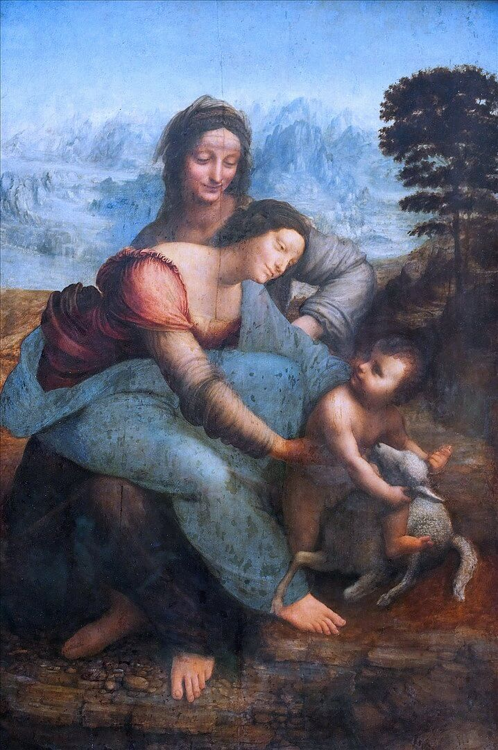 The Virgin and Child with St Anne by Leonardo da Vinci